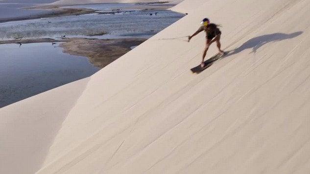 Wakeskating Through Sand Dunes at Brazil's Lencois Maranhenses