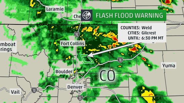 Colorado Flash Flooding Heavy Rain Floods Streets In Windsor Fort