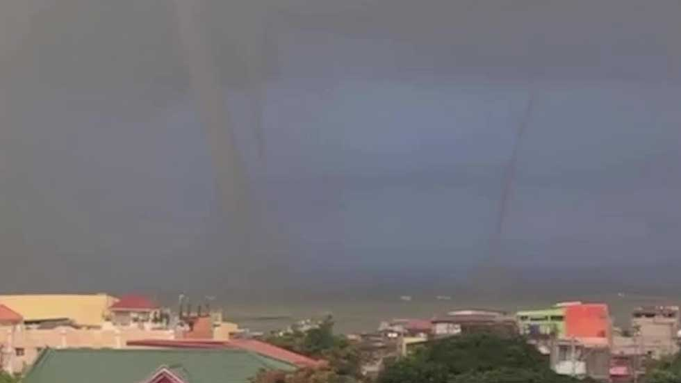 Three Waterspouts Spotted in the Philippines