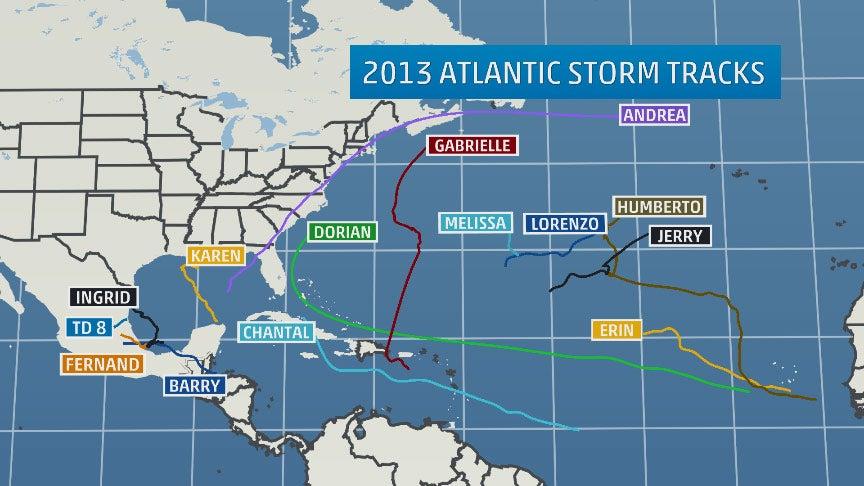 hurricane season 2013  by the numbers