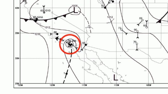 Map Of Arizona 1858.Remembering The San Diego Hurricane Of 1858 The Weather Channel