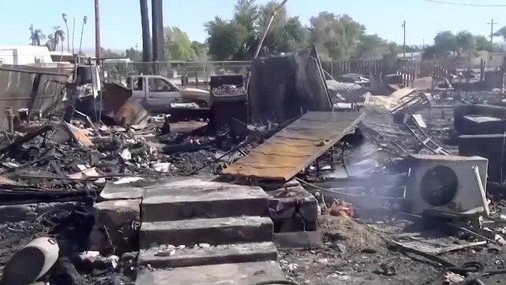 Deadly Brush Fire Destroys Dozens of California Homes
