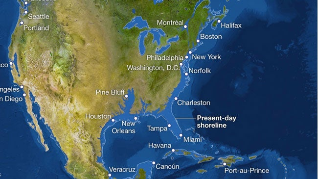 Map Of Us After Ice Caps Melt - Map of us after ice caps melt
