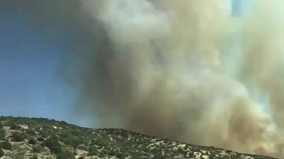 Brush Fire Near L.A. Forces Evacuations, 5,000 Structures Threatened