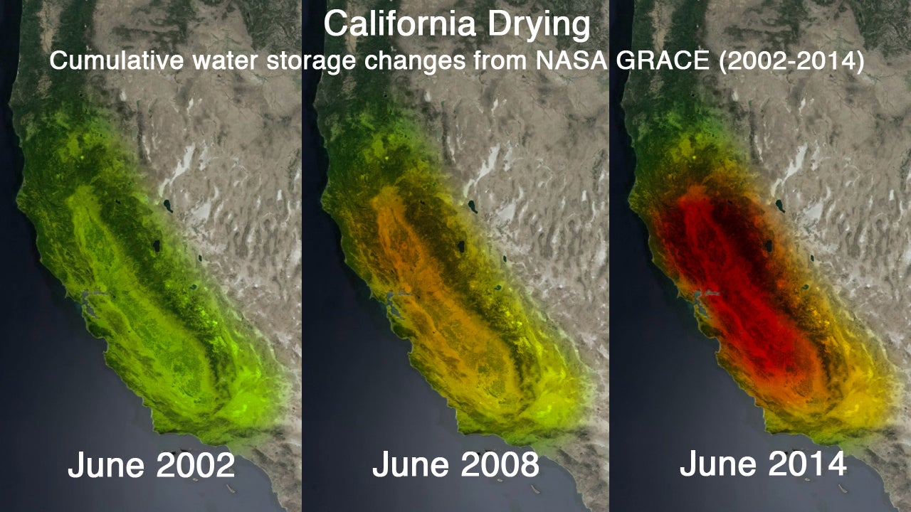 Nasa Photos Show California 039 S Drought Like Never Before The Weather Channel