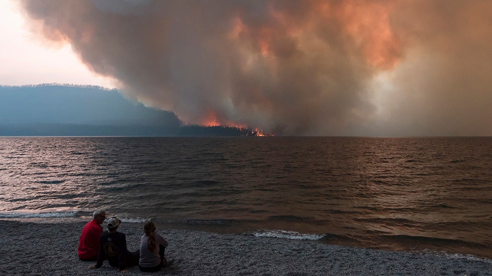 Wildfire Threatens Scenic Road in Montana's Glacier National Park