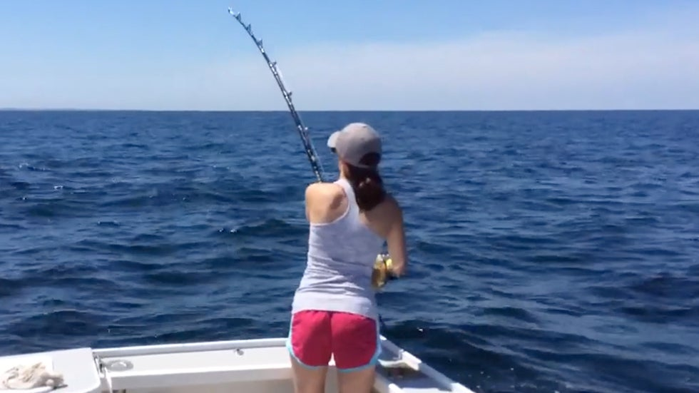 Teen Reels in 700-Pound Tuna
