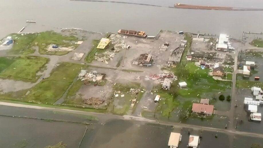 Aerial View of Devastation From Hurricane Ida