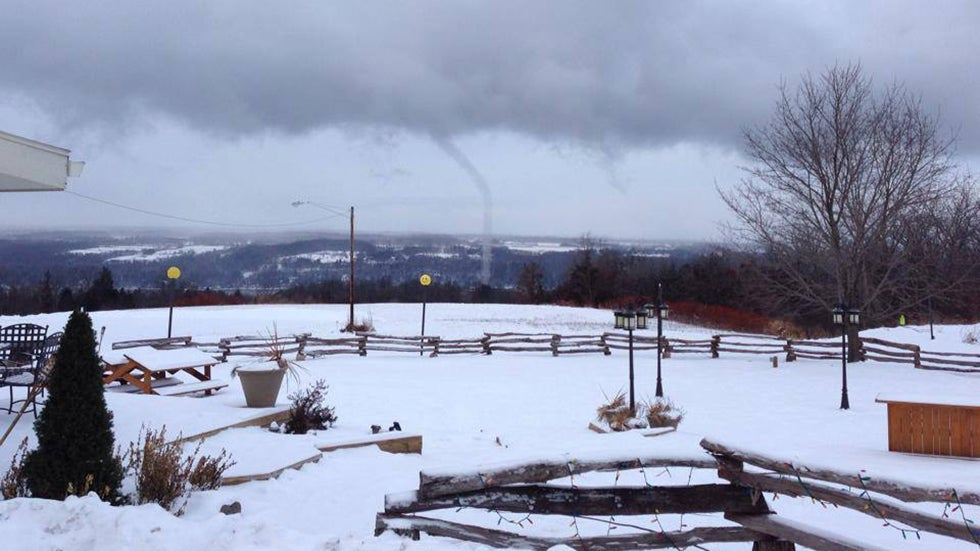 waterspouts in winter  yes  it happened this week and we