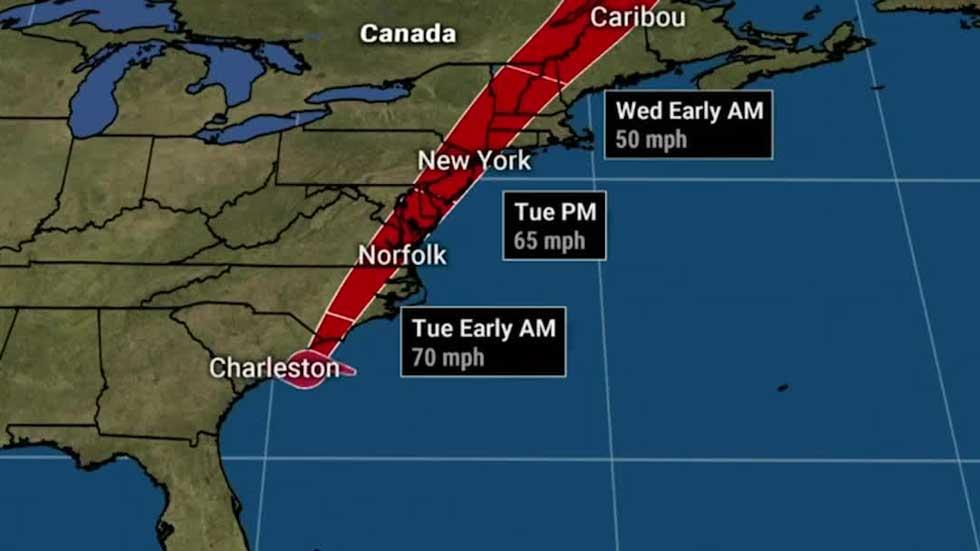 Isaias Getting Stronger as it Heads Toward Landfall in Carolinas