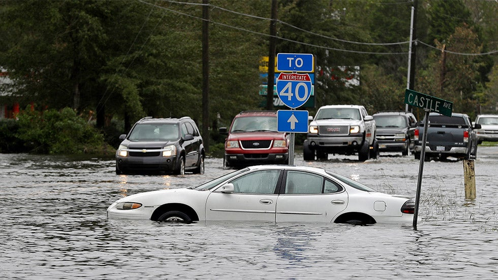 Wilmington Cut Off by Florence as Catastrophic Flooding Spreads Across North Car...