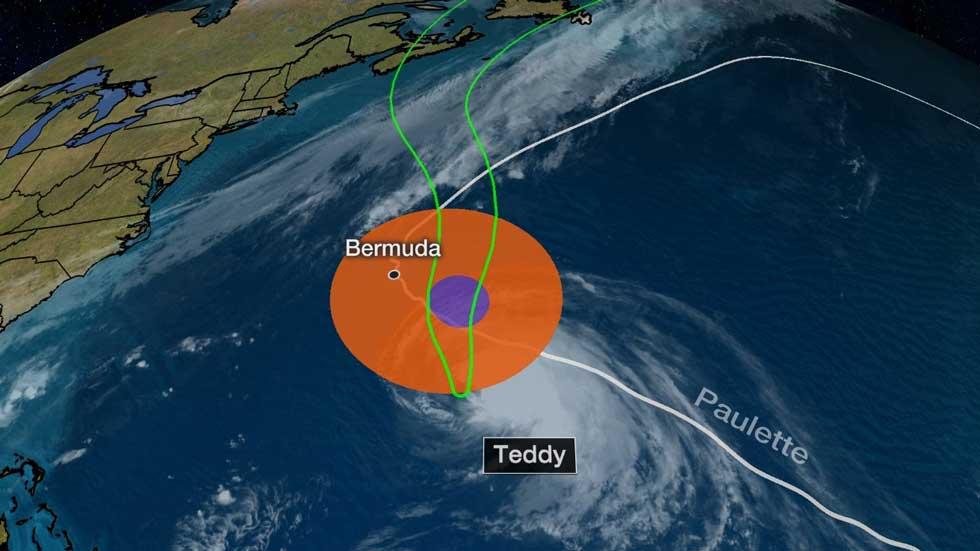 Hurricane Teddy May Sideswipe Bermuda