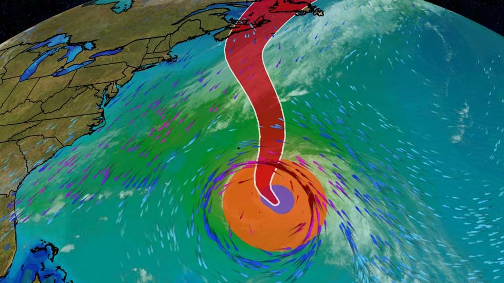 Hurricane Teddy Expected to Bring Dangerous Waves Along East Coast