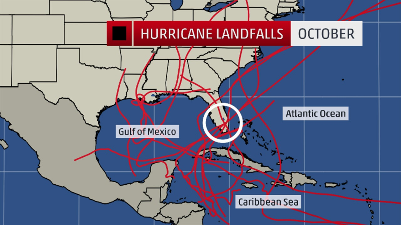Where The October Hurricane Threat Is The Greatest The Weather - Us hurricane landfall map