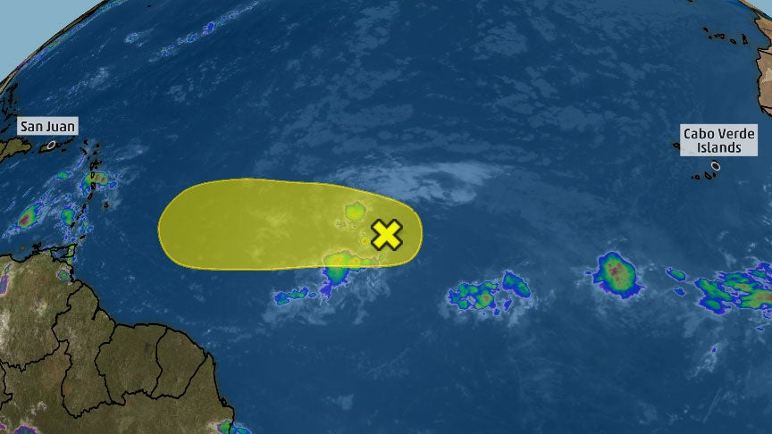 Eastern Atlantic Disturbance May Become a Tropical Depression But Won't Last Long