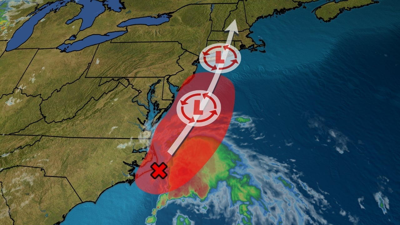 Low Pressure Is Likely to Form Into a Tropical or Subtropical Depression or Storm as it Spreads Rain Along East Coast