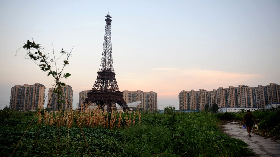 tianducheng  an eerie paris ghost town in china  photos