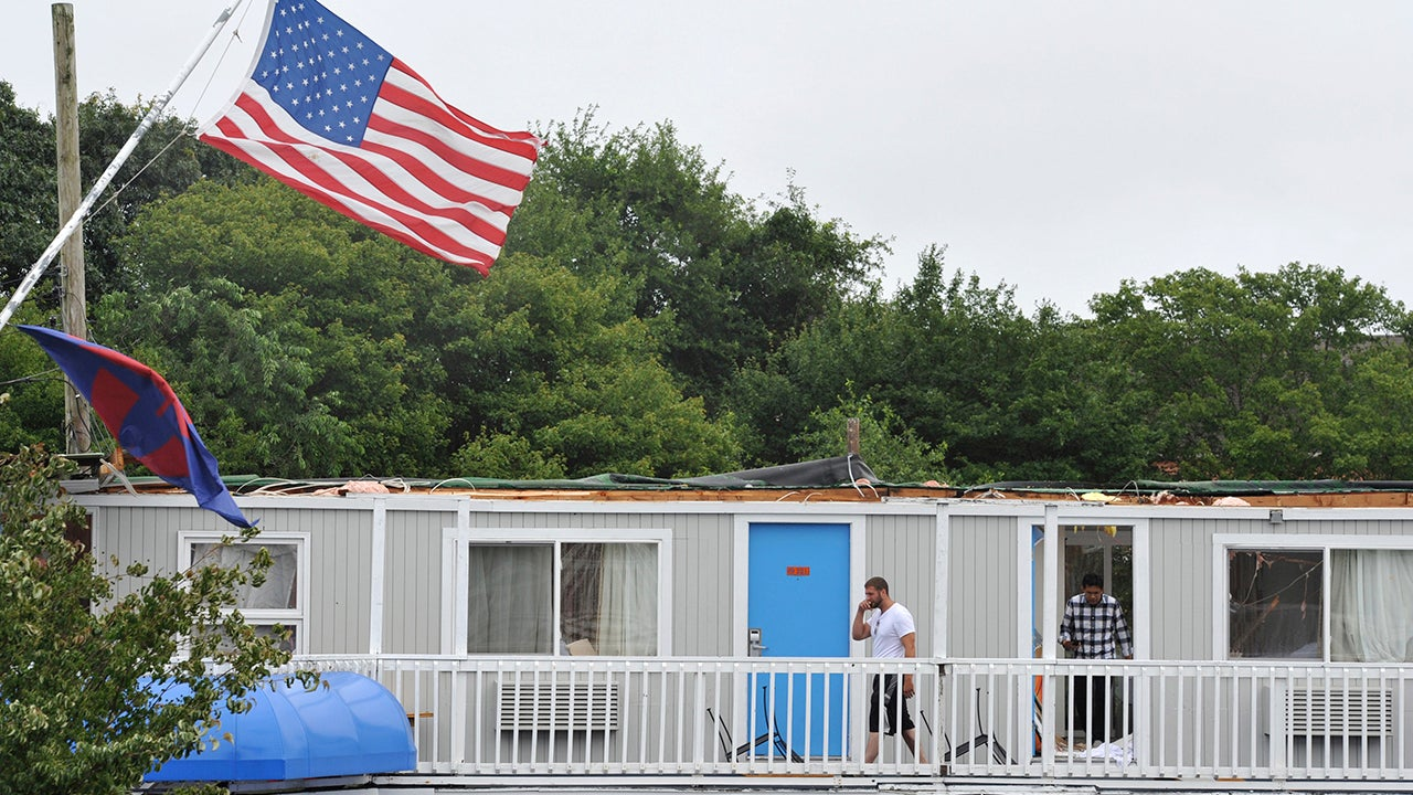 storms leave tornado damage on cape cod  knock out power