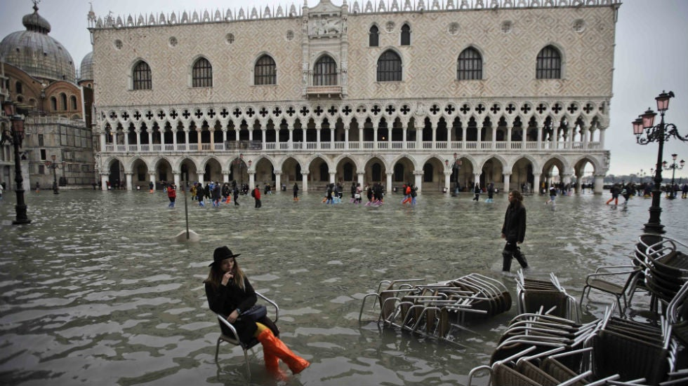 Venice 'On Its Knees' in Record Flooding