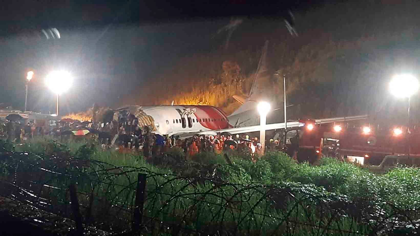 Air India Plane Crashes in Heavy Rain in Southern India; 16 Killed, Dozens Injured