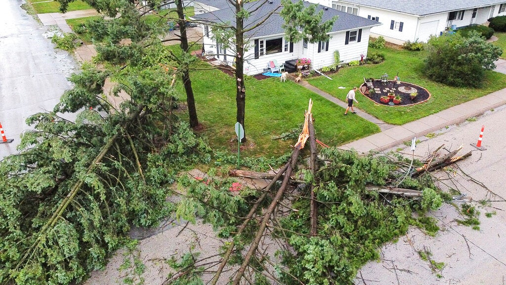 Power Crews Rush Back to Midwest from Northeast After Derecho Leaves Hundreds of Thousands Without Power