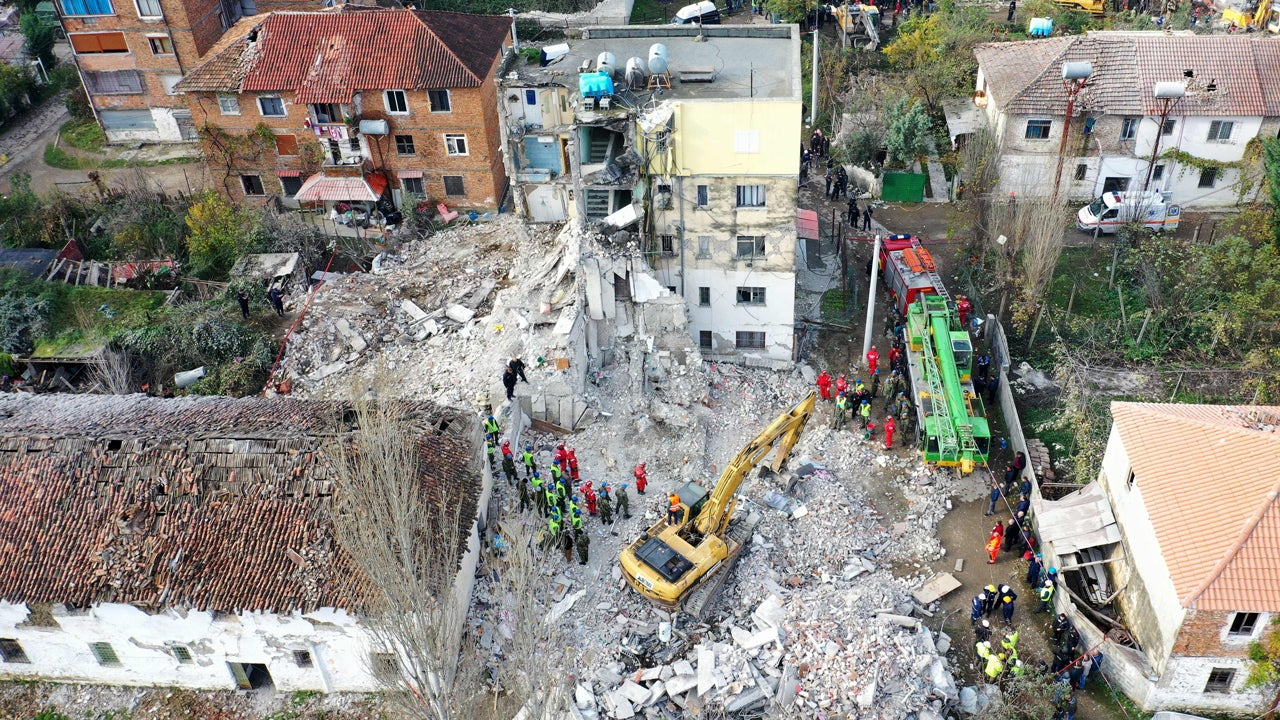 Deadly Albania Earthquake Survivors Sleep in Streets After Hundreds Of Buildings Collapse, Aftershocks Hit