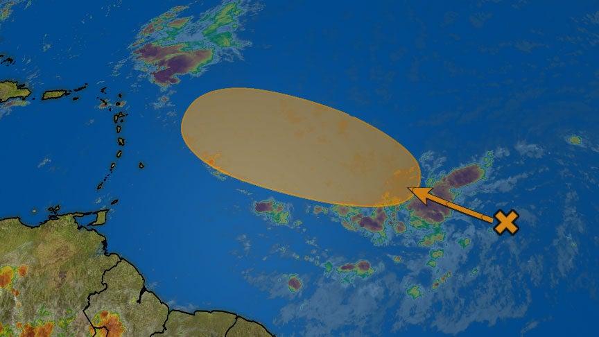 atlantic tropical disturbance  invest 96l  may develop