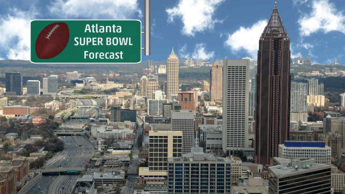 Atlanta Super Bowl Week Forecast: Dry, Turning Milder Into Late-Week, Then Rain Possible Super Bowl Weekend