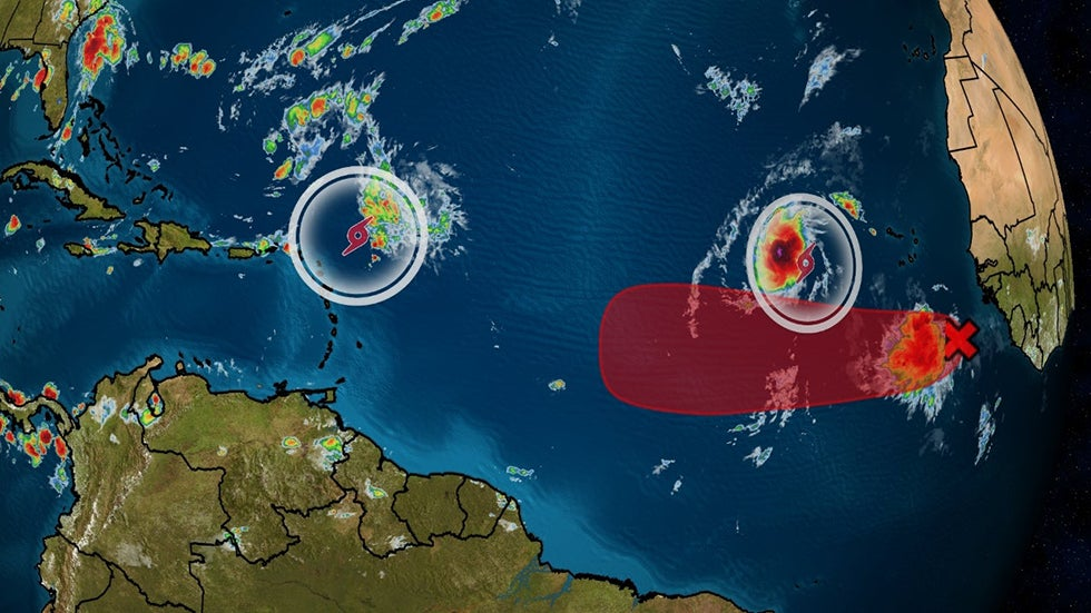 Atlantic Tropical Storms Peter and Rose Could Be Followed By a Third System Later This Week