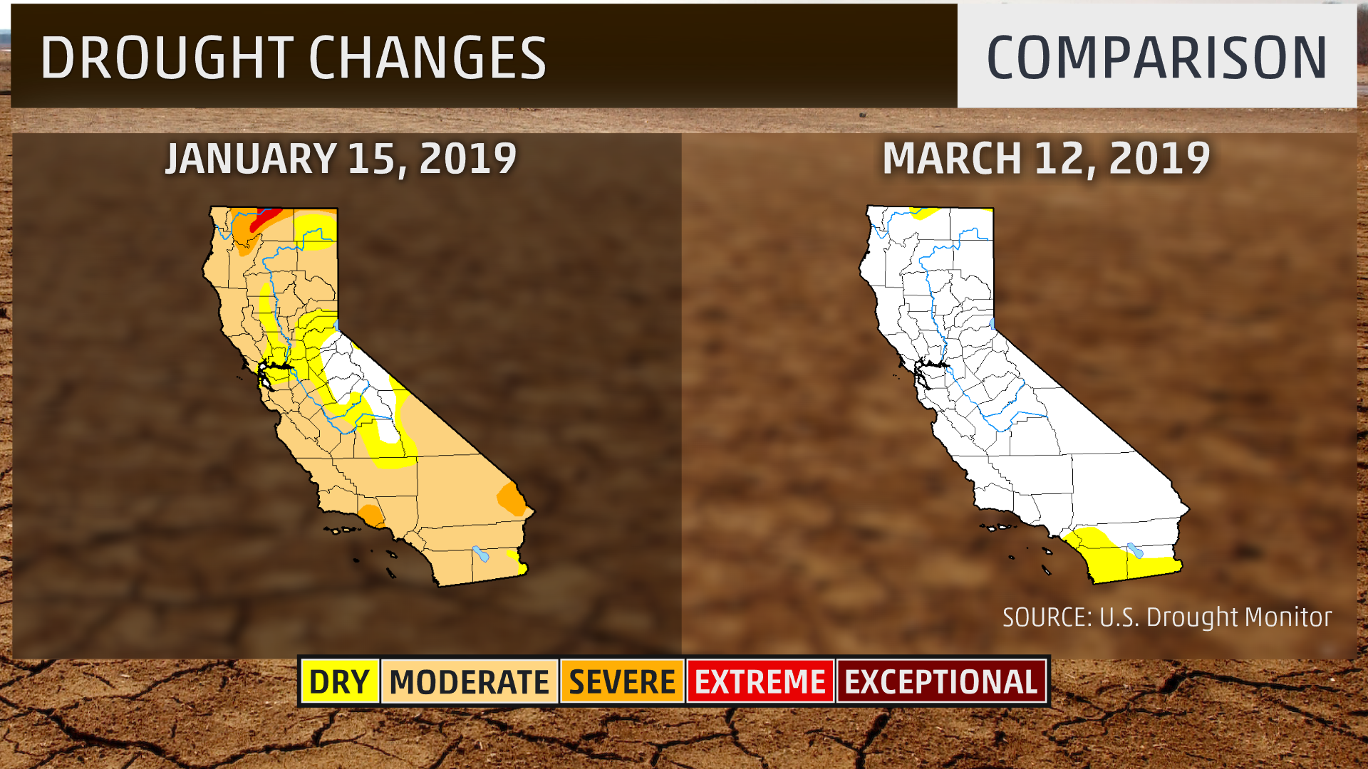 California Is Drought-Free for First Time in over 7 Years ... on california groundwater, california mountain ranges, california reservoirs, eritrea map satellite, california water wars, california fault lines, pacific coast satellite, california wildfires current, california farms, new york city satellite, california fires, california from space, cebu map satellite, bp oil spill satellite, california legoland water park, california rain, florida satellite, california giant garter snake, wildfire smoke satellite, great lakes satellite,