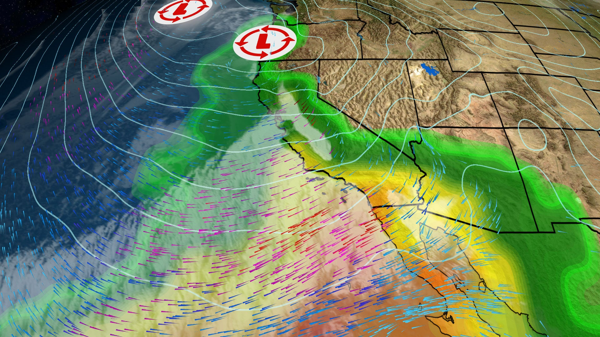 Atmospheric River on the Warm Side of Winter Storm Nadia Causes ...