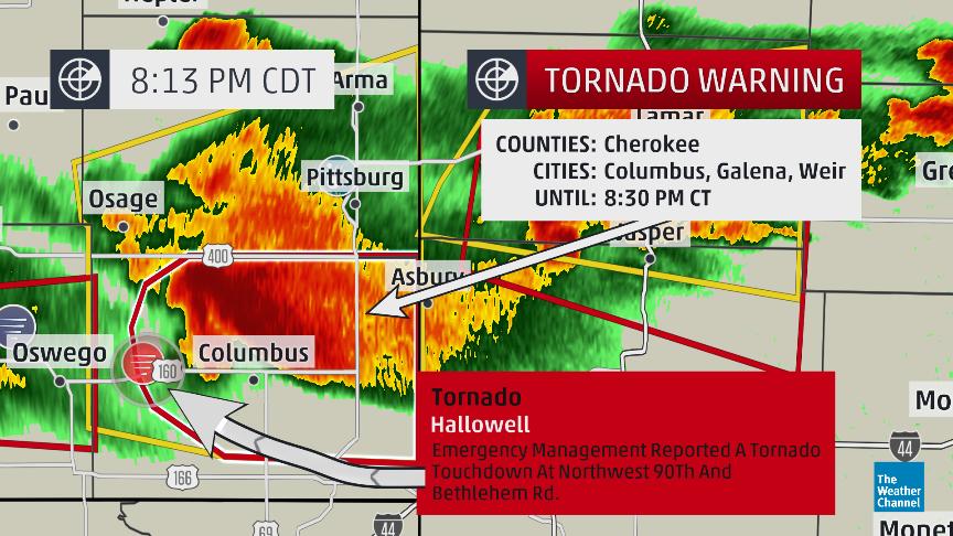 live updates  tornadoes sighted in kansas  tornado watch