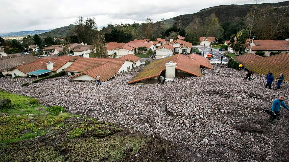 California Homes Buried By Destructive Debris Flow Photos The Weather Channel