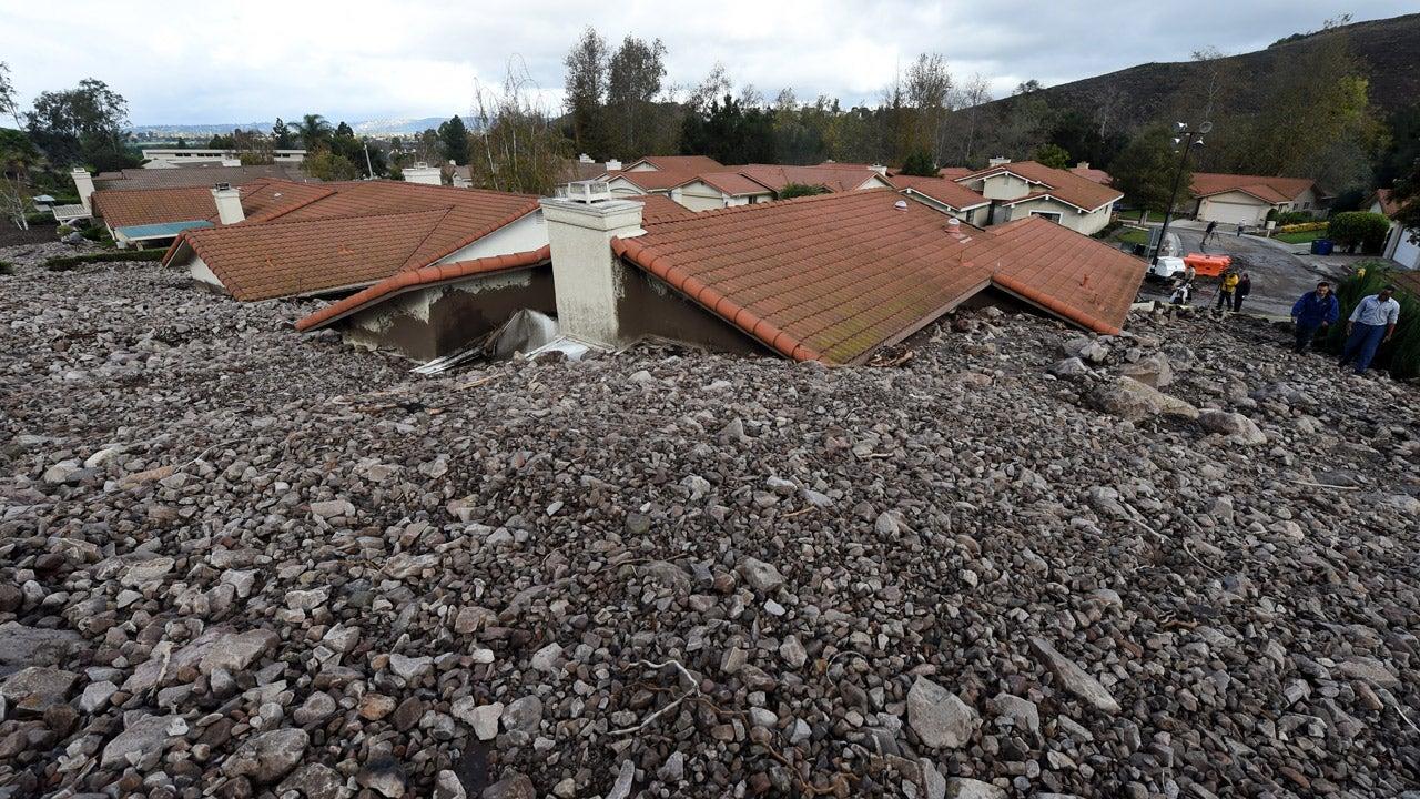 camarillo springs  california  mudslide swallows 13 homes