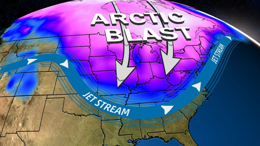 arctic blast bringing dangerously cold wind chills to the