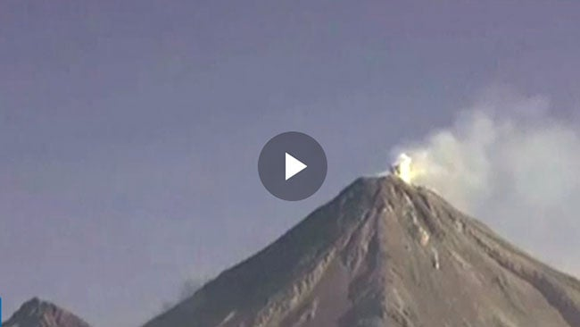 watch this volcano throw ash 13 000 feet into the air