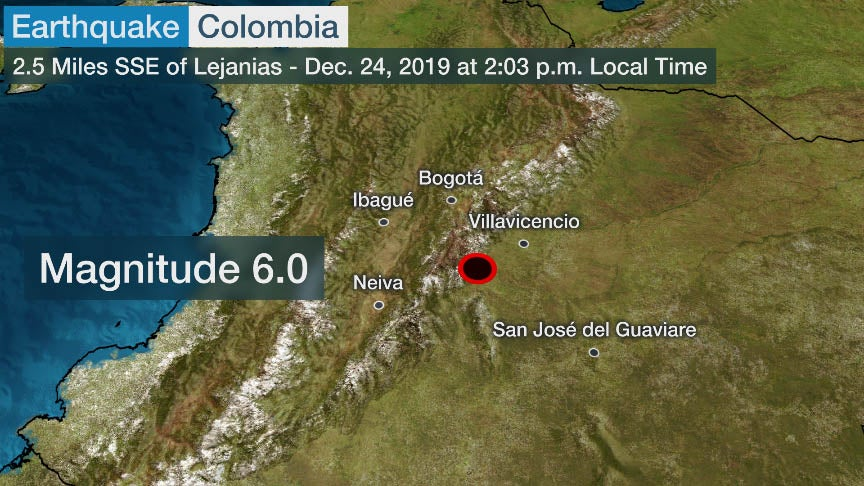 Strong Earthquake Strikes Colombia; Buildings Shake in Bogota