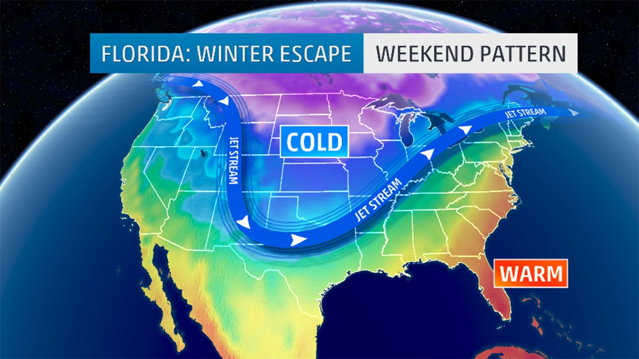 Floridas Record Warmth Mocks Rest Of Cold Shivering US The - Map of weather patterns in the us
