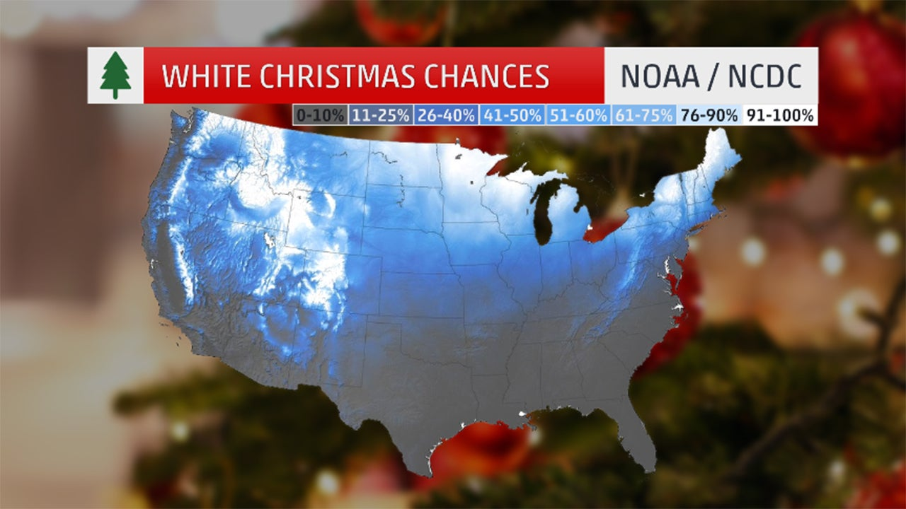 Who Will Have A White Christmas This Year The Weather Channel - Christmas weather map usa