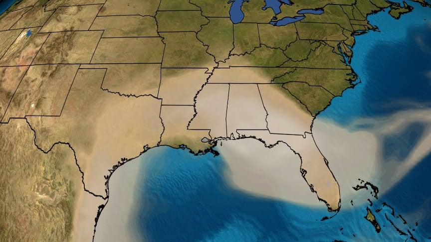 Massive Saharan Dust Plume Spreads Into the U.S. After Completing a 5,000-Mile Journey From Africa
