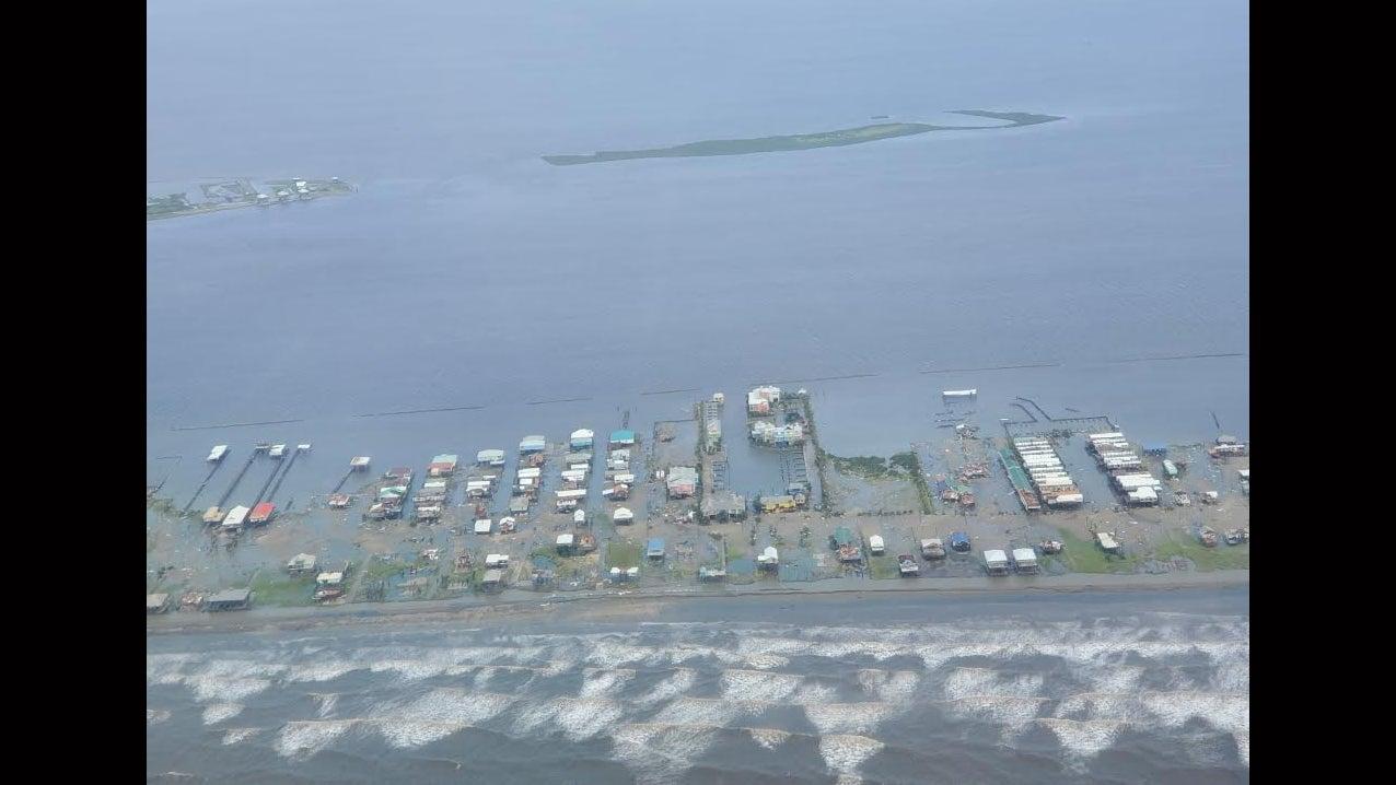 Aerial Photos Show Flooded Southern Louisiana After Hurricane Ida