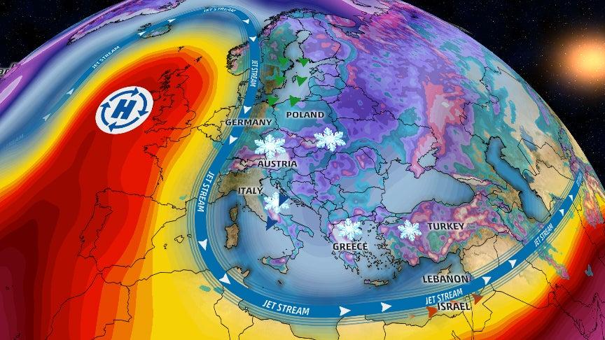 Europe Weather Pattern Generates Feet Of Snow Coastal Flooding