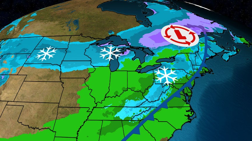 Snow will spread east and travel will likely be hazardous