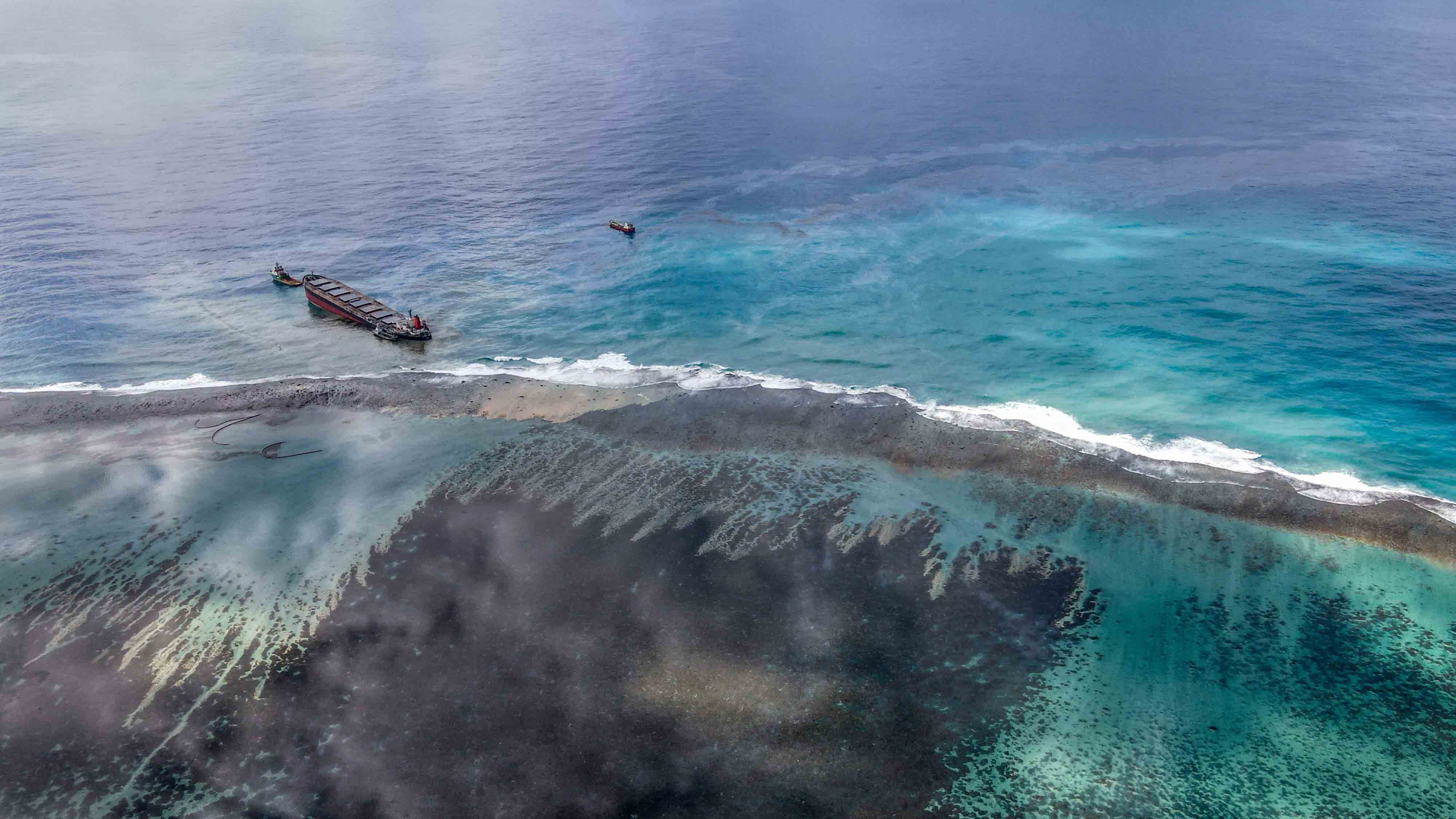 Crews Race to Contain Oil Spill off Mauritius Before Ship Falls Apart