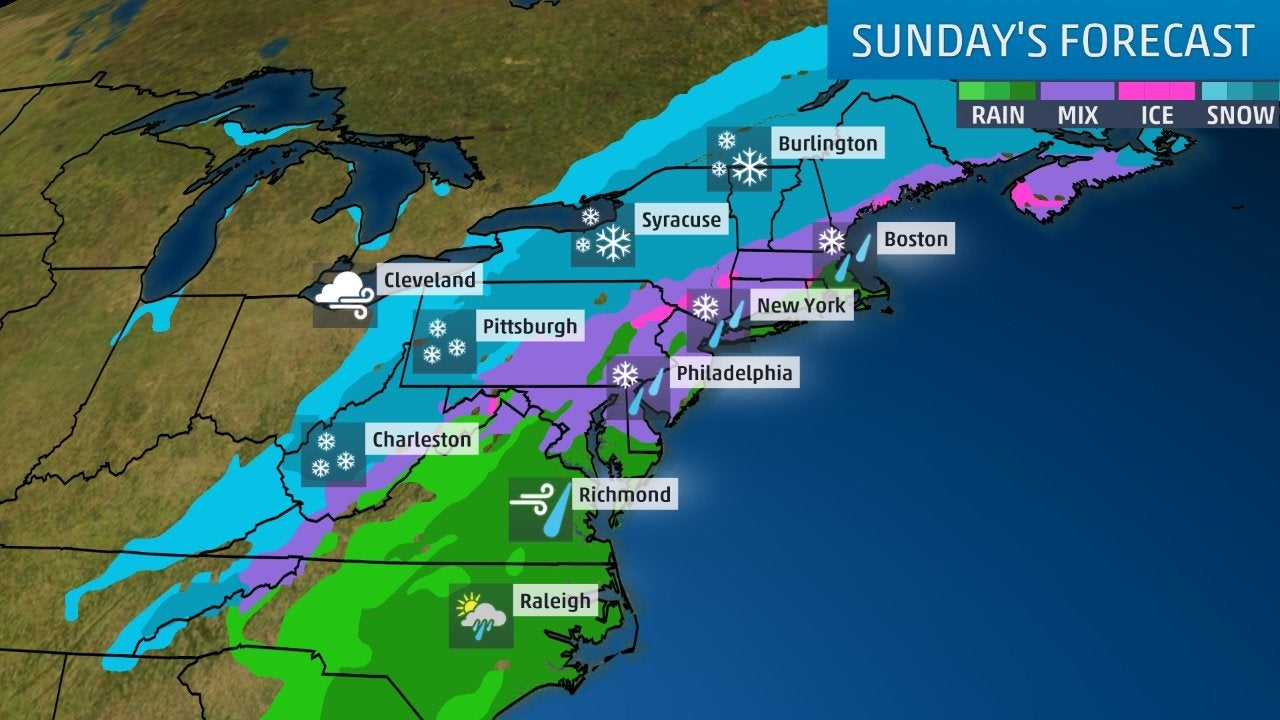 Northeast Looking at Potential Major Snow Threat   The