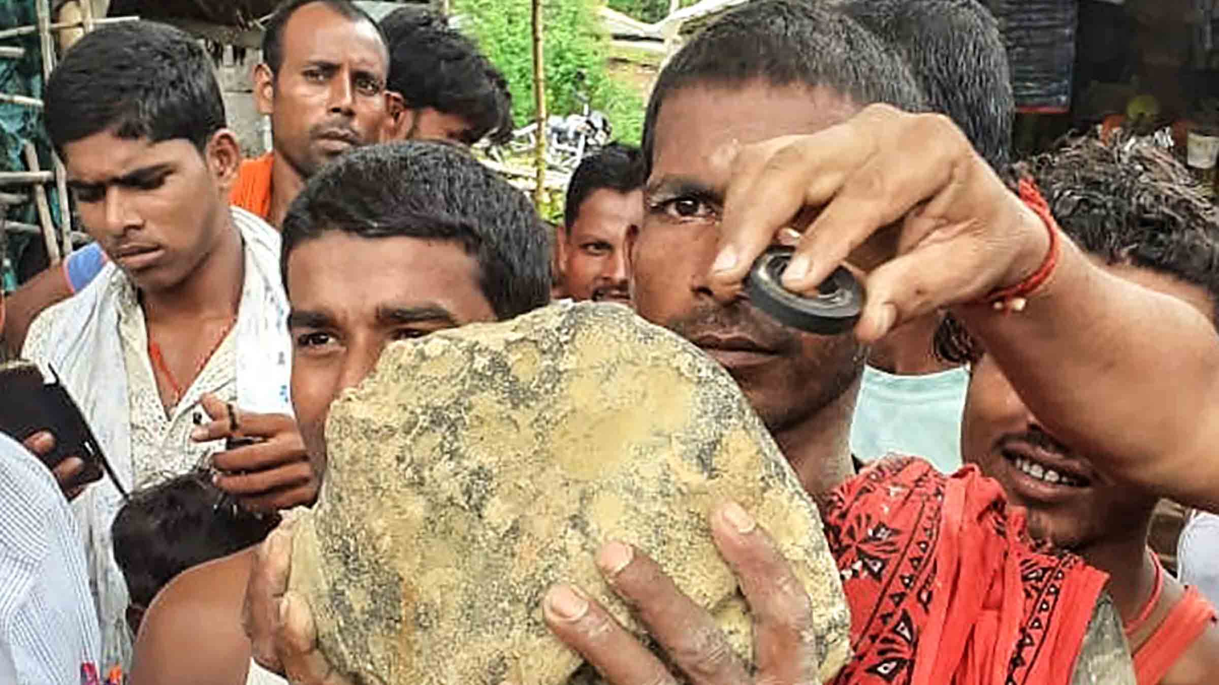 Possible Meteorite Stuns Workers in India Rice Field