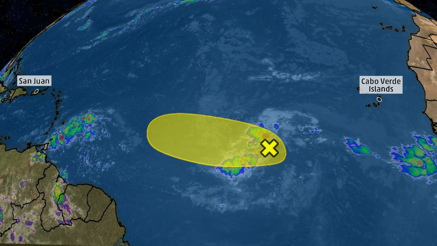 eastern atlantic disturbance may become a tropical
