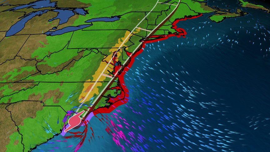 Isaias Made Landfall in North Carolina as a Hurricane; Strong Winds, Heavy Rain Will Spread Into the Northeast Tuesday