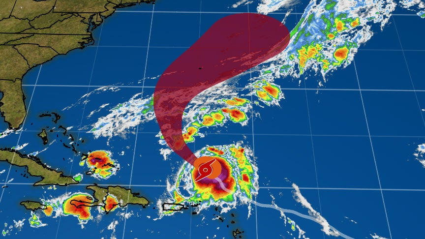 Tropical Storm  Jerry May Bring Heavy Rain to Puerto Rico, Northern Leeward Islands & Could Move Near Bermuda Next Week