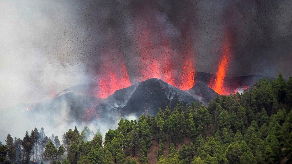 Canary Islands Volcano Erupts